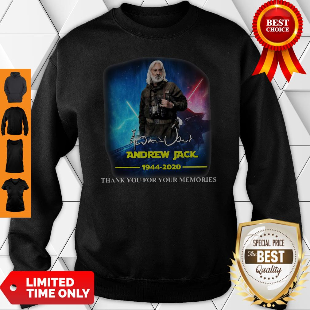 Andrew Jack 1944 2020 Thank You For The Memories Sweatshirt