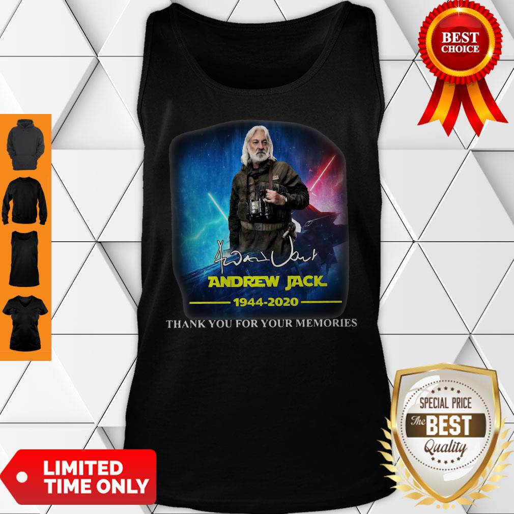 Andrew Jack 1944 2020 Thank You For The Memories Tank Top