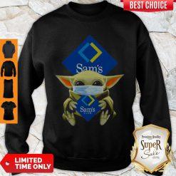 Baby Yoda Mask Sam's Club Coronavirus Sweatshirt