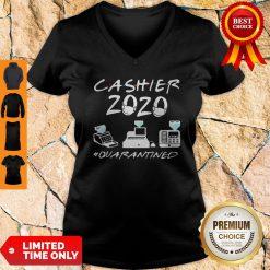 Cashier 2020 Quarantined Covid-19 Coronavirus V-neck