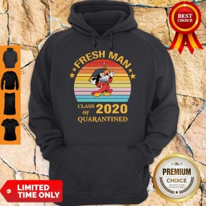 Pretty Mickey Mouse Freshman Class Of 2020 Quarantined Vintage Hoodie