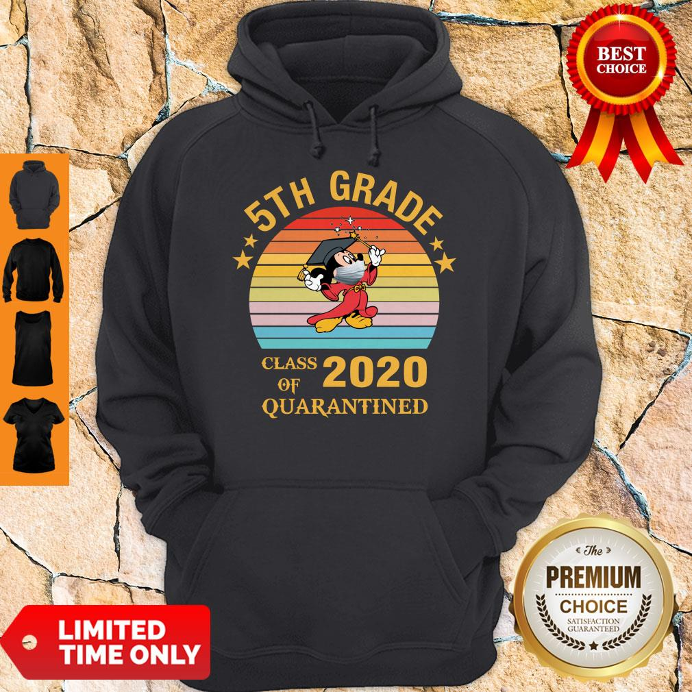 Nice Mickey Mouse 5th Grade Class Of 2020 Quarantined Vintage Hoodie
