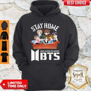 Official Stay home And Listen To Music BTS Hoodie