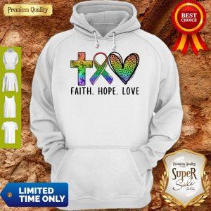 Premium Faith Hope Love Hoodie