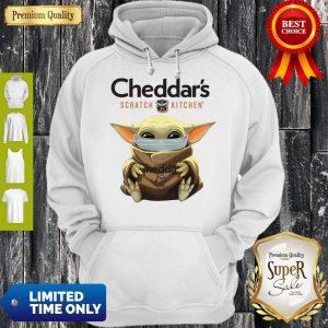 Cute Baby Yoda Mask Cheddar's Scratch Kitchen Coronavirus Hoodie