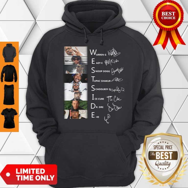 Good West Side Warren G Eazy E Snoop Dog Signatures Hoodie