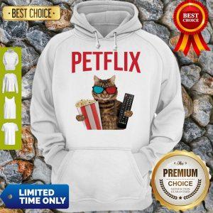 Premium Petflix Cat Popcorn And Mode Hoodie