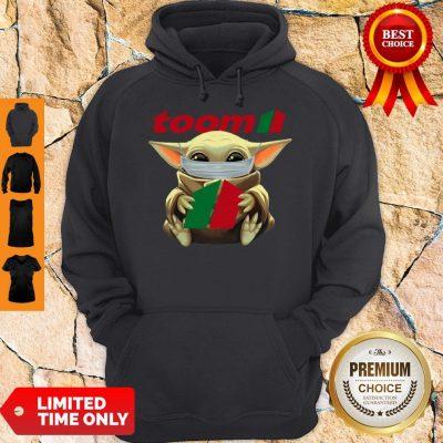 Nice Baby Yoda Mask Hug Toom Hoodie