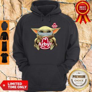 Official Baby Yoda Mask Hug Arbys Hoodie