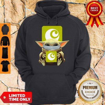 Premium Baby Yoda Mask Hugging Ocado Hoodie