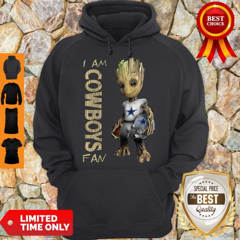 Nice Baby Groot I Am Dallas Cowboys Fan NFL Football Hoodie