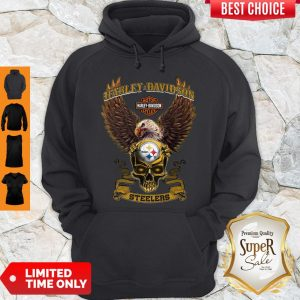 Pro Eagle Skull Harley-Davidson Pittsburgh Steelers Hoodie