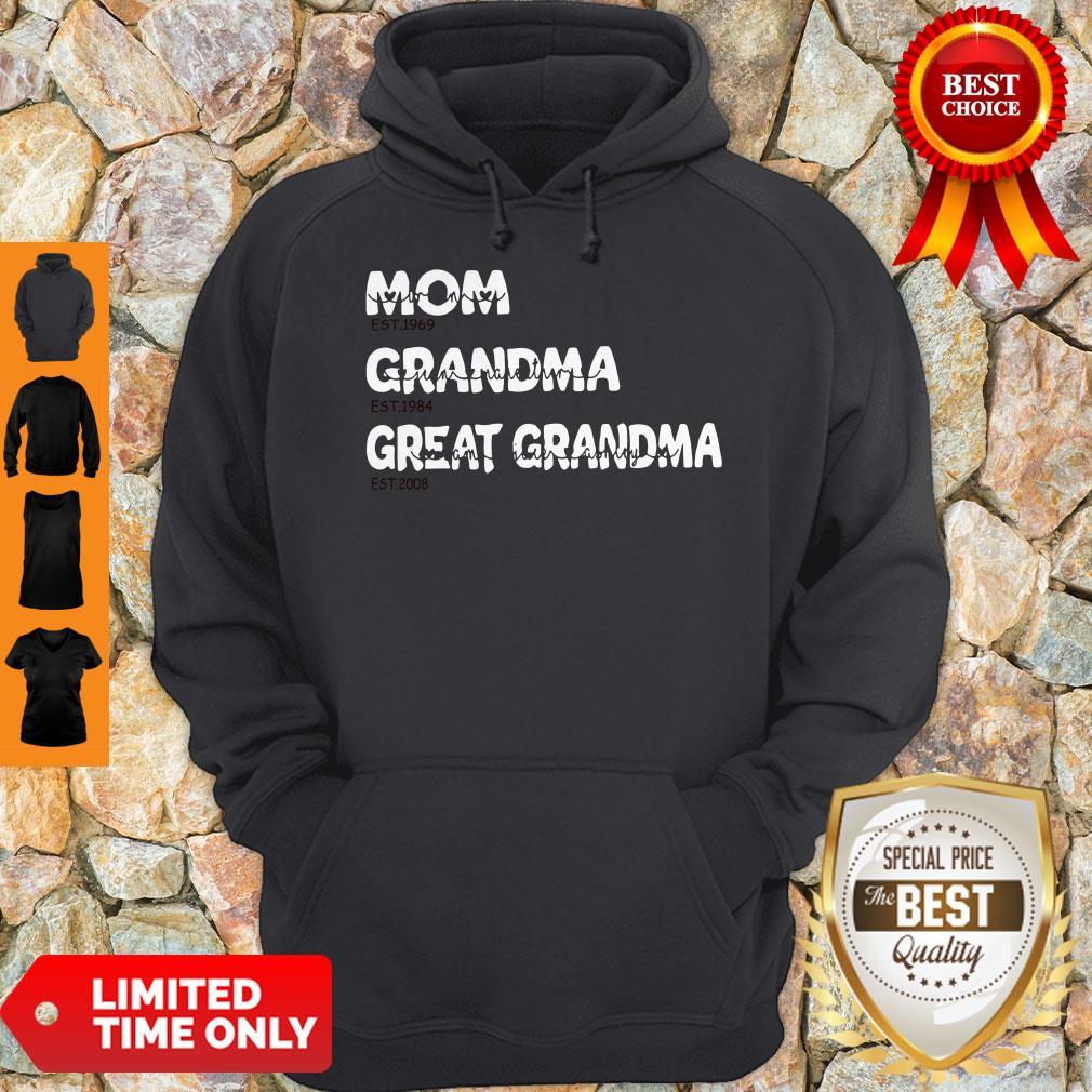 Top Personalized Family Mom Grandma Great Grandma With Grandkid Hoodie
