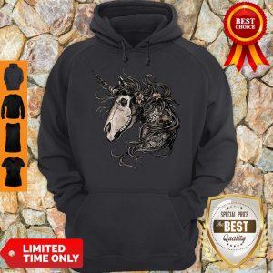 Premium Unicorn Skull Flower Hoodie