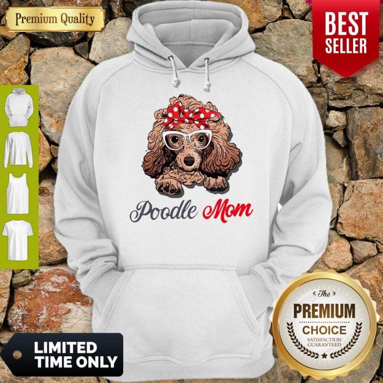 Pretty Poodle Wear Glasses Dog Mom Hoodie