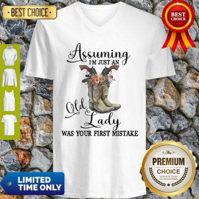 Horse Assuming I'm Just An Old Lady Was Your First V-neck