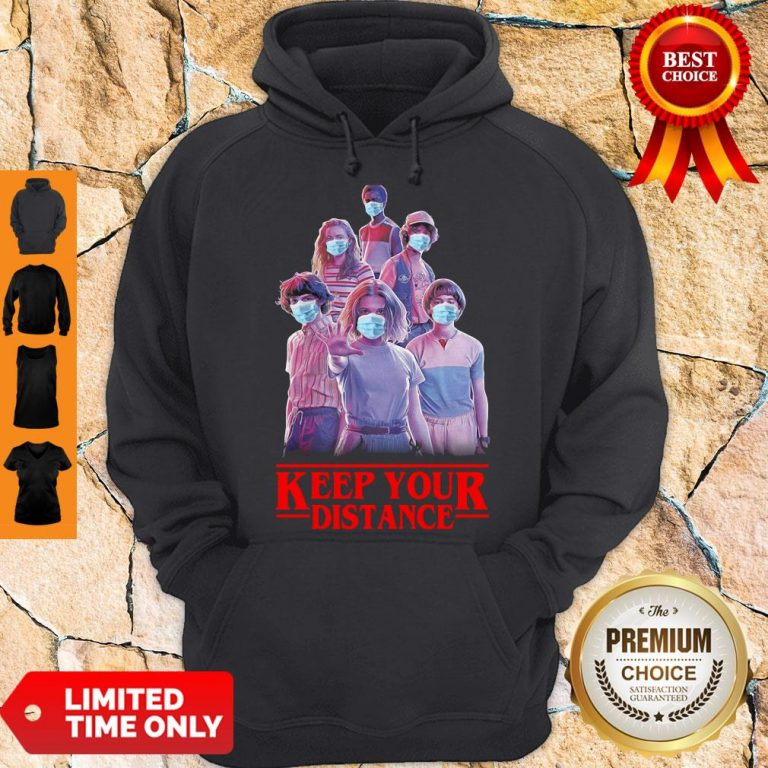 Hot Strangerthings Eleven Mike Will Max Dustin Lucas Season Keep Your Distance Covid-19 Hoodie