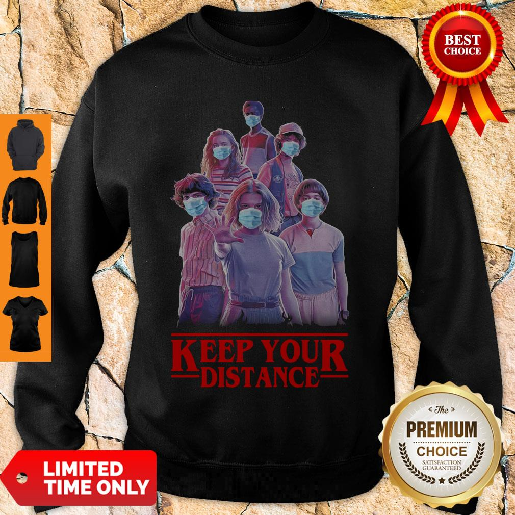 Hot Strangerthings Eleven Mike Will Max Dustin Lucas Season Keep Your Distance Covid-19 Sweatshirt