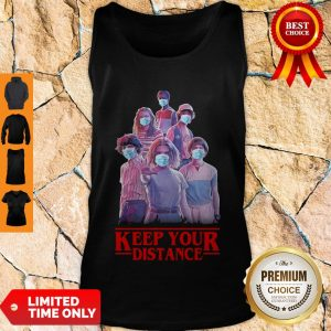 Hot Strangerthings Eleven Mike Will Max Dustin Lucas Season Keep Your Distance Covid-19 Tank Top