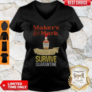 Maker's Mark Helping Me Survive Quarantine Coronavirus V-neck