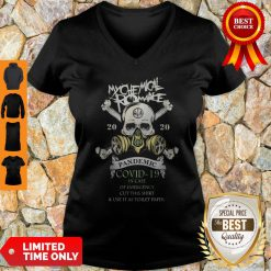 My Chemical Romance 2020 Pandemic Covid 19 In Case Of Emergency Cut This V-neck