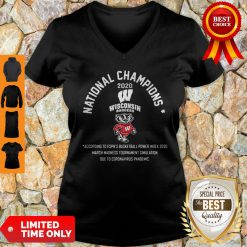 National Champions 2020 Wisconsin Badgers According To Espn's Basketball V-neck