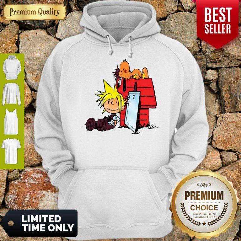Nice Final Fantasy Snoopy And Charlie Brown Hoodie