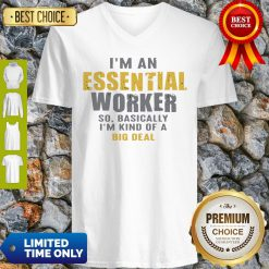 Official I'm an Essential Worker V-neck