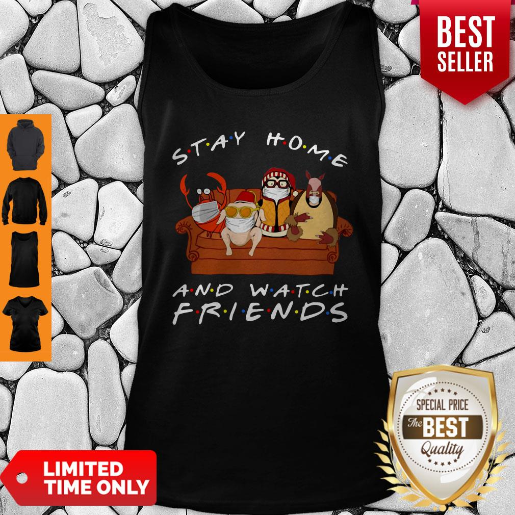 Official Stay Home And Watch Friends Tank Top
