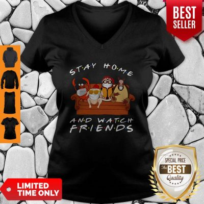 Official Stay Home And Watch Friends V-neck