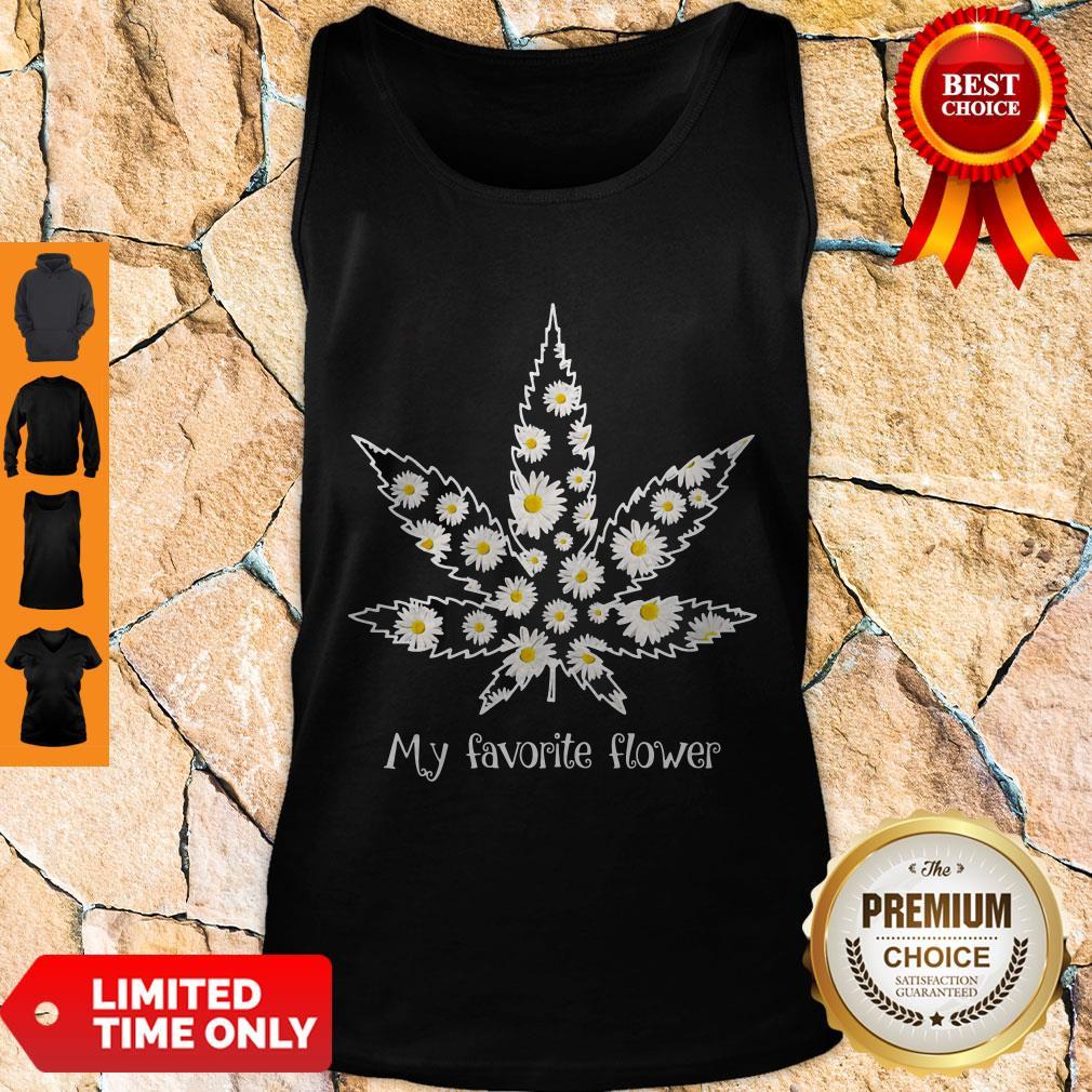 Premium Daisy Cannabis My Favorite Flower Tank Top