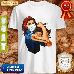 Rosie The Riveter Respiratory Therapist Woman Nurse Shirt