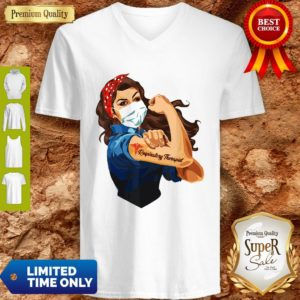 Rosie The Riveter Respiratory Therapist Woman Nurse V-neck