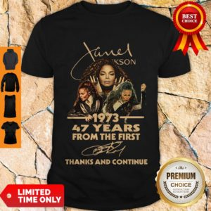 Cute Nice Janet Jackson 47 Years Of 1973-2020 Signatures Thank You For The Memories Shirt