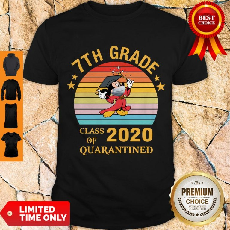 Cute Mickey Mouse 7th Grade Class Of 2020 Quarantined Vintage Shirt