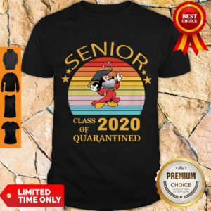 Official Mickey Mouse Senior Class Of 2020 Quarantined Vintage Shirt