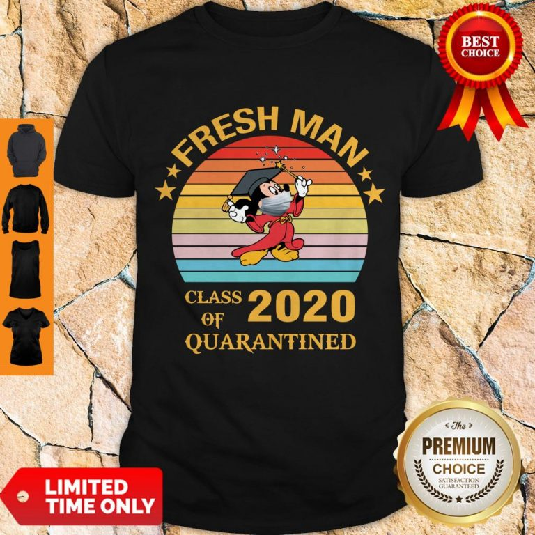 Pretty Mickey Mouse Freshman Class Of 2020 Quarantined Vintage Shirt