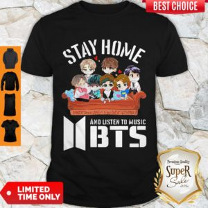 Official Stay home And Listen To Music BTS Shirt