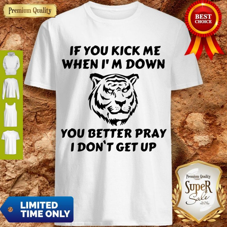 Top Tiger If You Kick Me When I Am Down You Better Pray I Don't Get Up Shirt