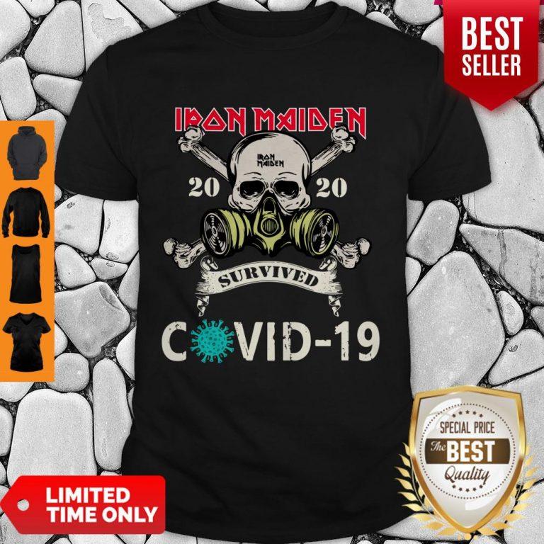 Top Original Skull Iron Maiden 2020 Survived Covid 19 Shirt