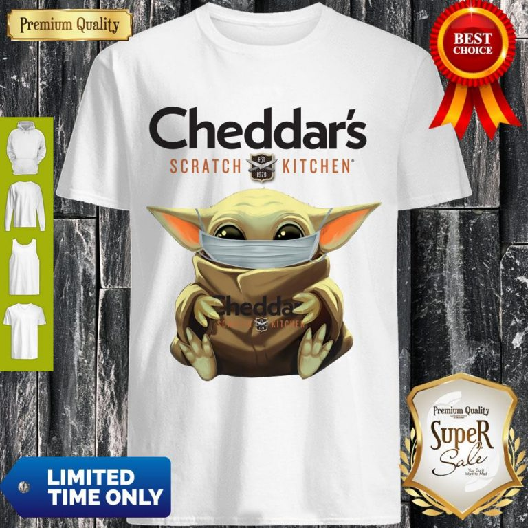 Cute Baby Yoda Mask Cheddar's Scratch Kitchen Coronavirus Shirt