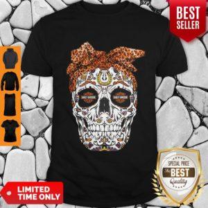 Pretty Sugar Skull Motorcycles Harley Davidson Shirt