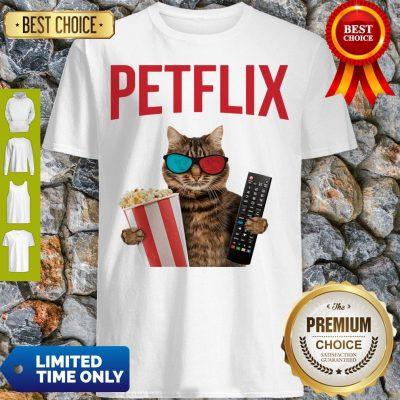 Premium Petflix Cat Popcorn And Mode Shirt