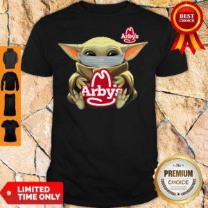 Official Baby Yoda Mask Hug Arbys Shirt