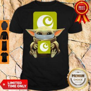 Premium Baby Yoda Mask Hugging Ocado Shirt