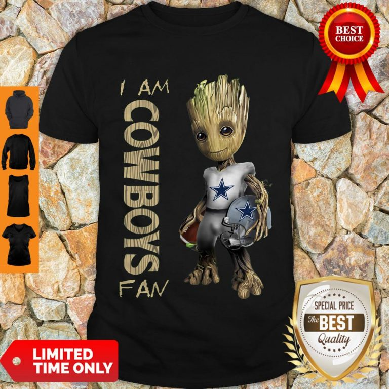 Nice Baby Groot I Am Dallas Cowboys Fan NFL Football Shirt