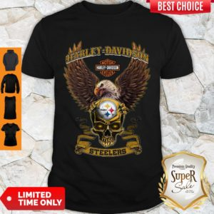 Pro Eagle Skull Harley-Davidson Pittsburgh Steelers Shirt