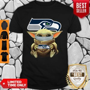 Official Baby Yoda Face Mask Hug Seattle Seahawks I Can't Stay At Home Shirt