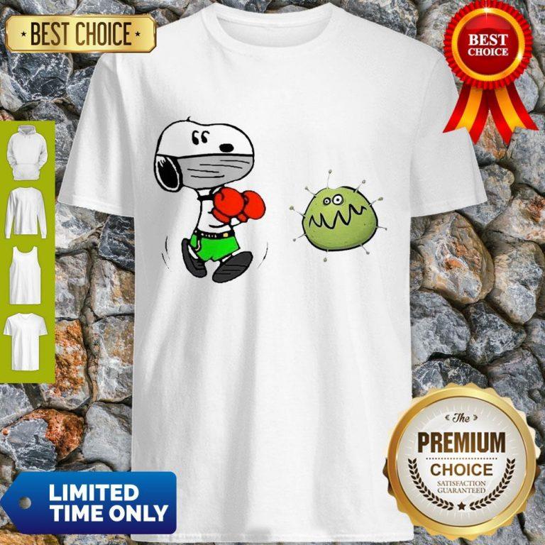 Nice Snoopy Boxing Virus Corona Shirt
