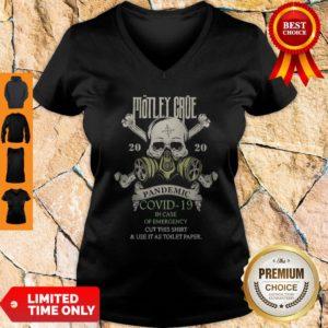 Skull Motley Crue 2020 Pandemic Covid-19 In Case Of Emergency V-neck